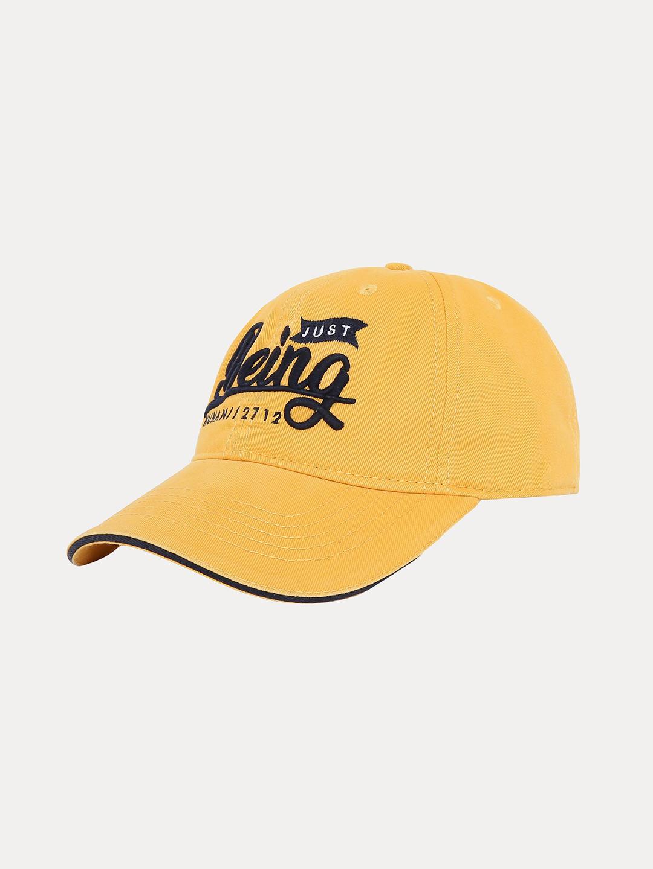 MUSTARD PRINTED BASEBALL CAP