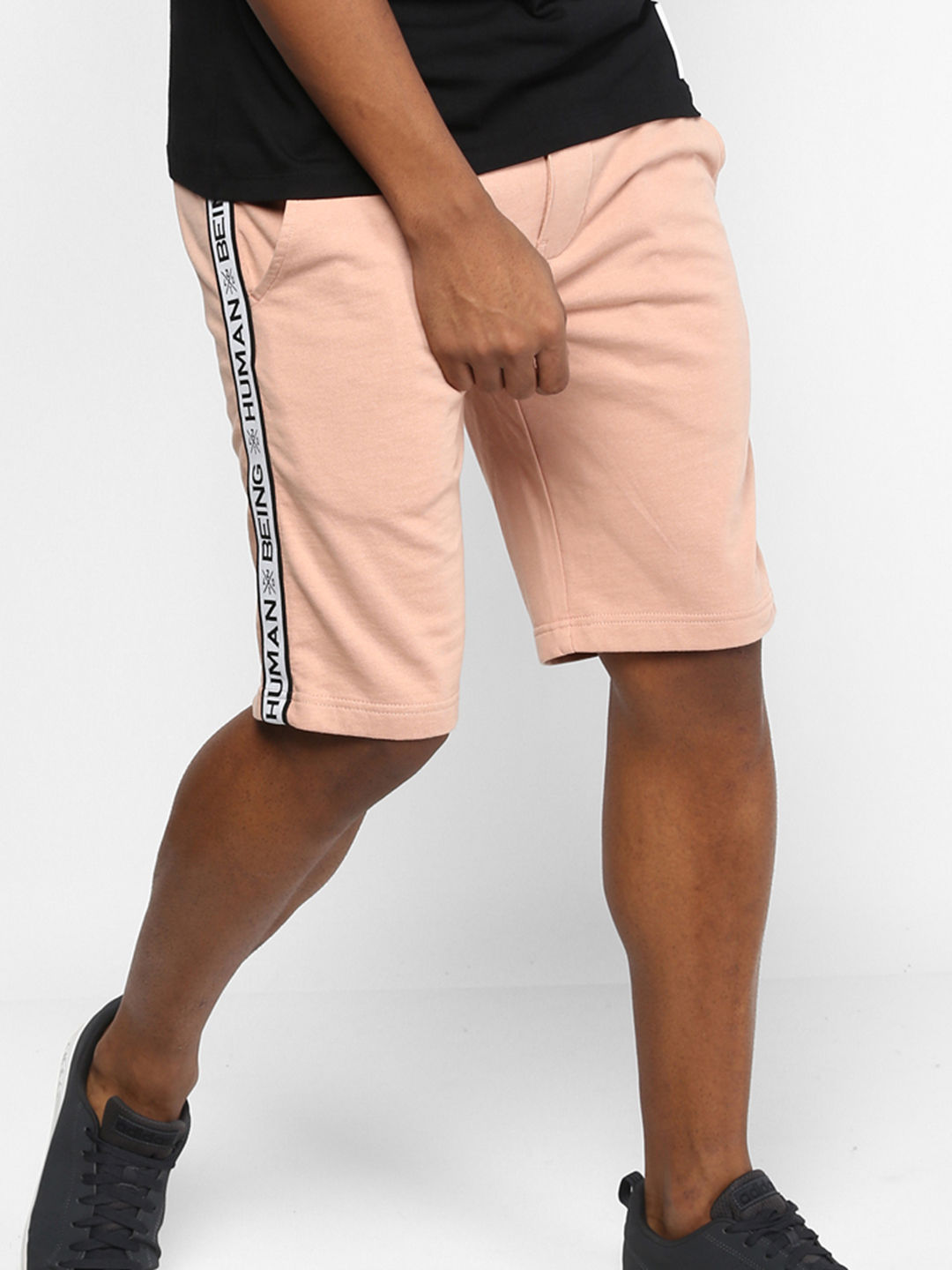 PALE PINK SOLID SHORTS