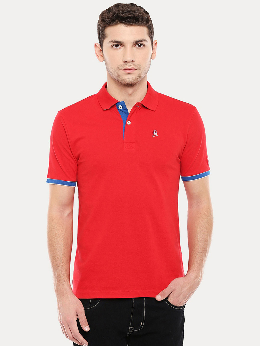 TANGO RED SOLID POLO T-SHIRT