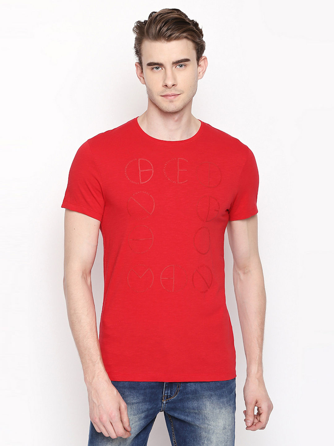 CHERRY RED SOLID T-SHIRT