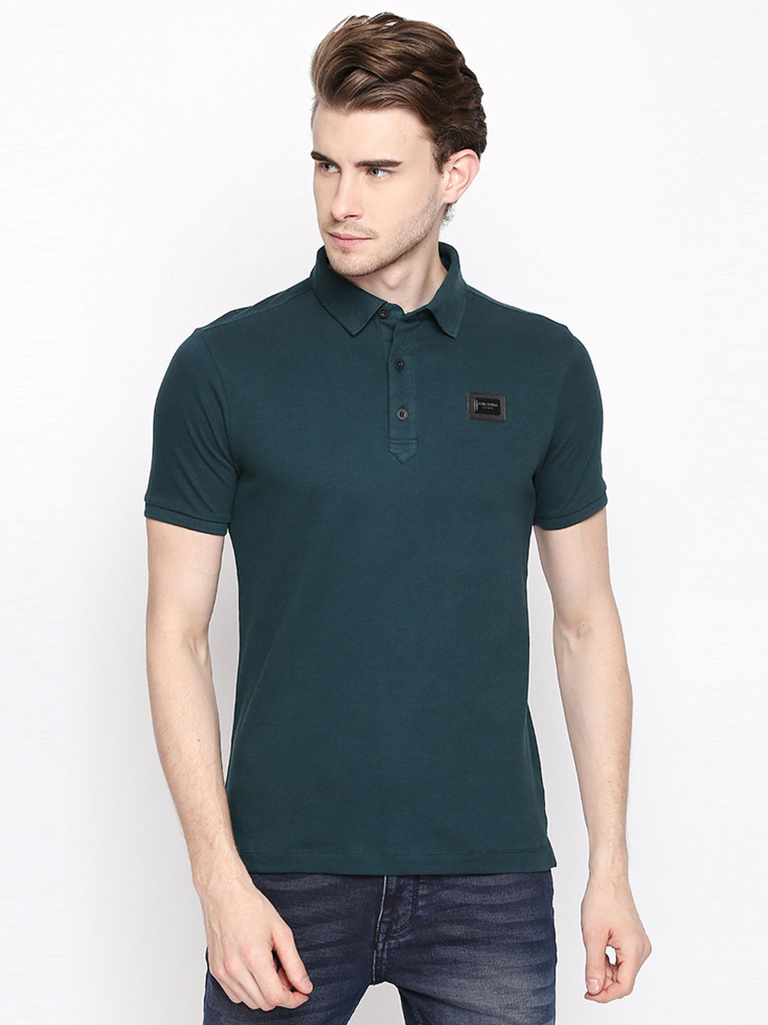 PINE SOLID POLO T-SHIRT