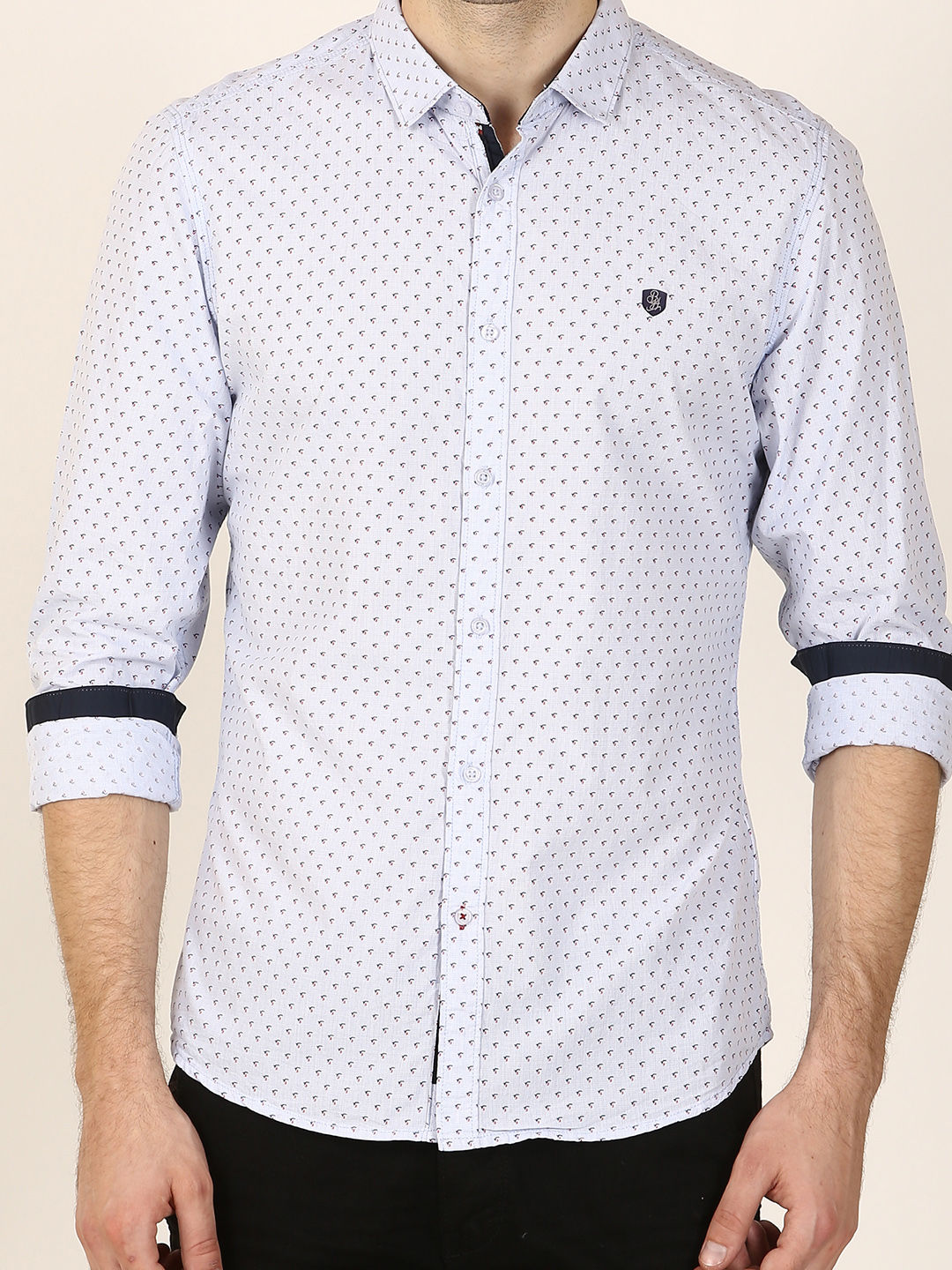 BLUE PATTERNED CASUAL SHIRT