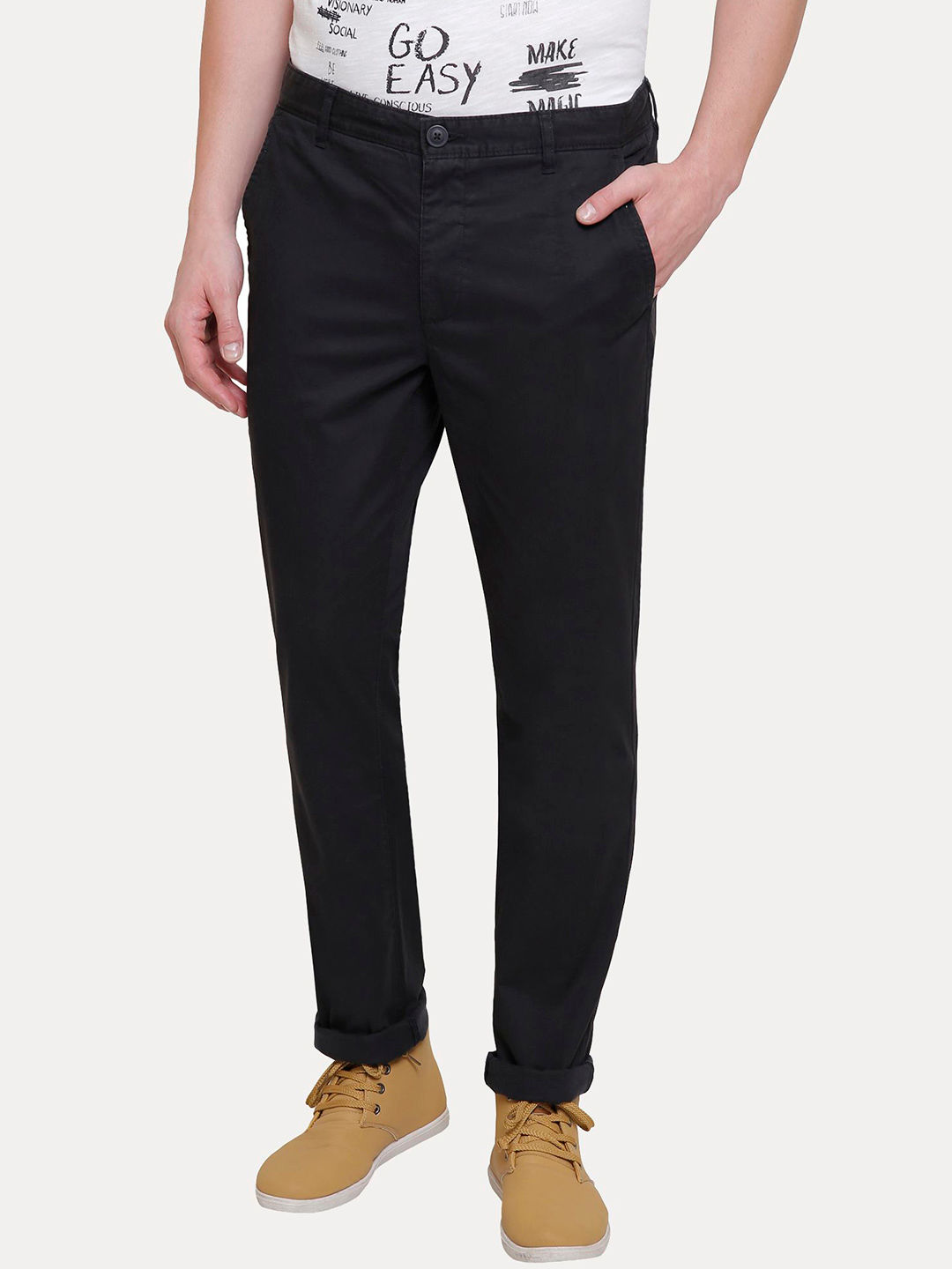 BLACK SLIM  CHINOS