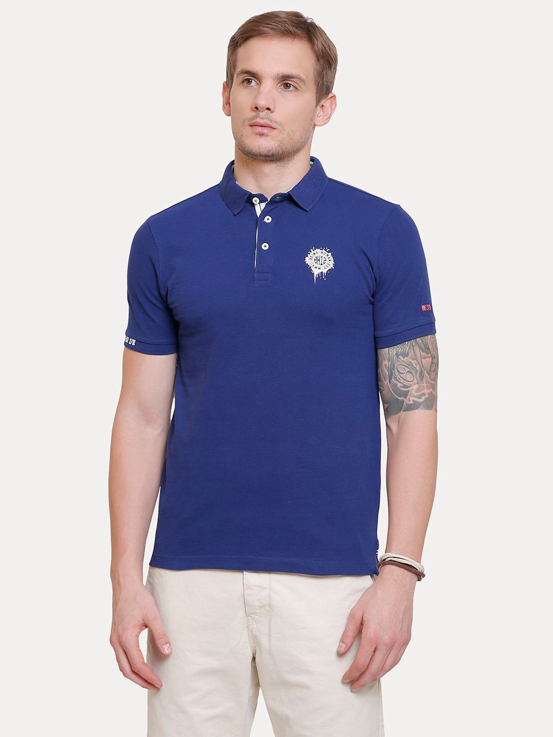 INK BLUE SOLID T-SHIRT