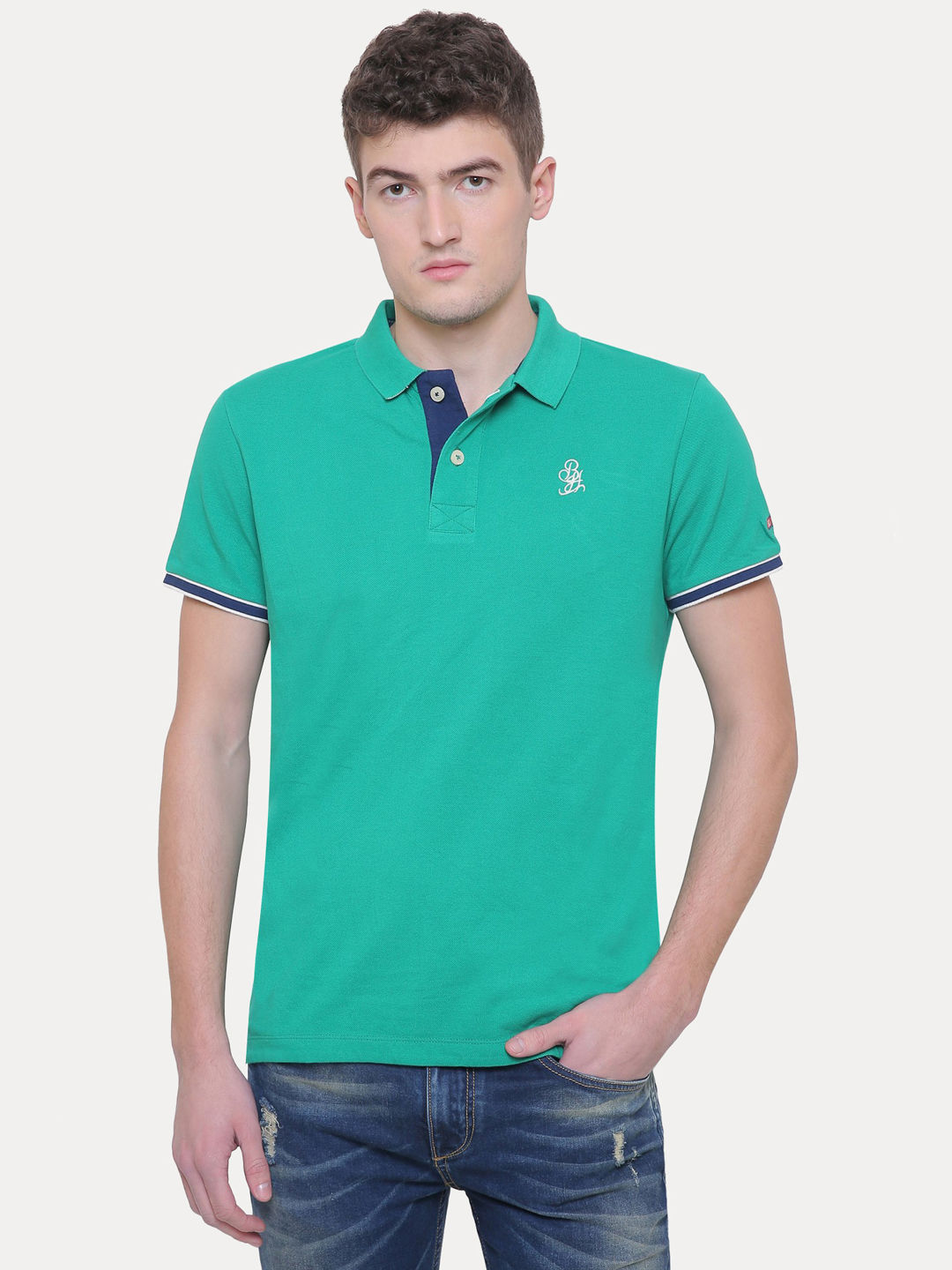 GOLF GREEN SOLID T-SHIRT