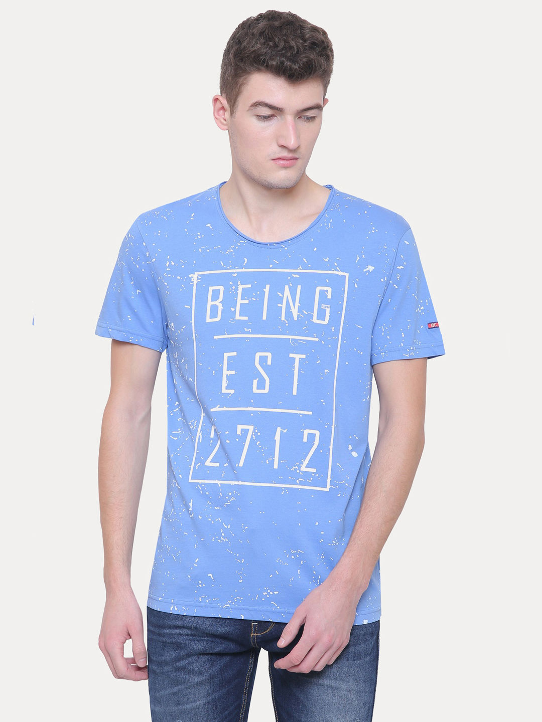 LAKE BLUE PRINTED T-SHIRT