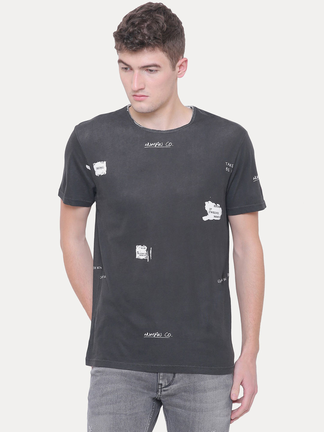 CHARCOAL SOLID T-SHIRT