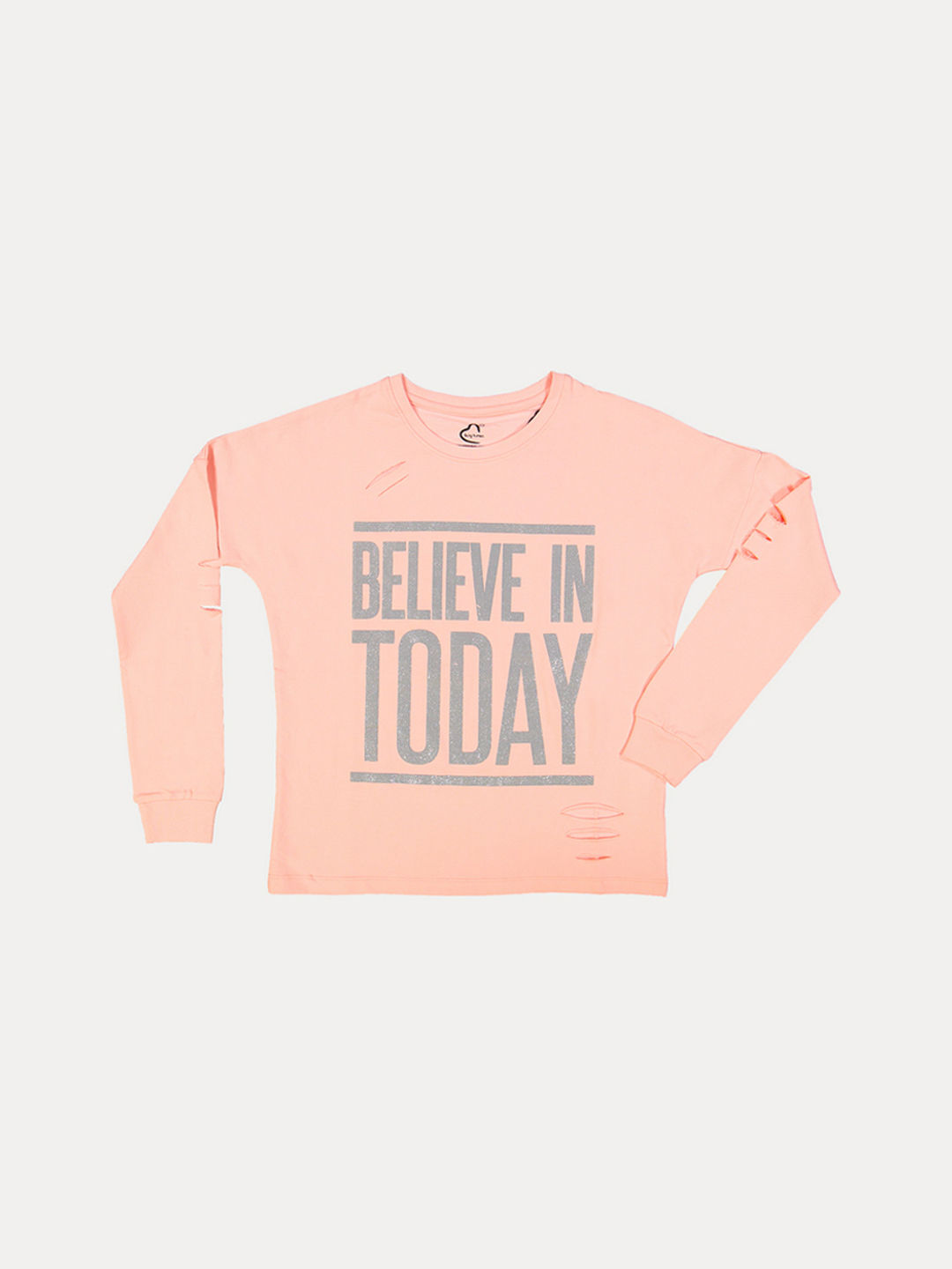 LIGHT PINK PRINTED T-SHIRT