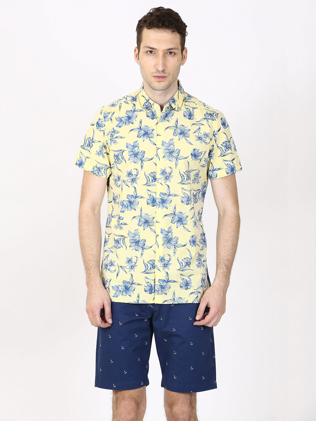 YELLOW FLORAL CASUAL SHIRT