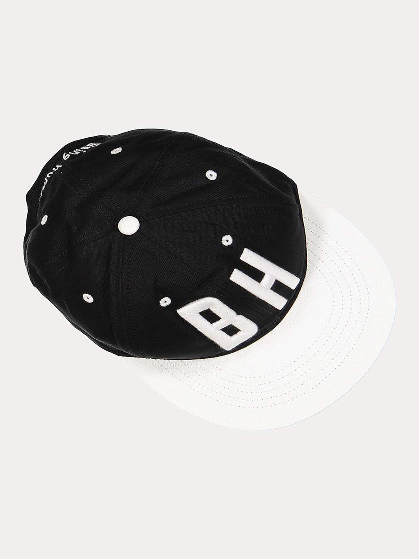 BLACK PRINTED BASEBALL CAP