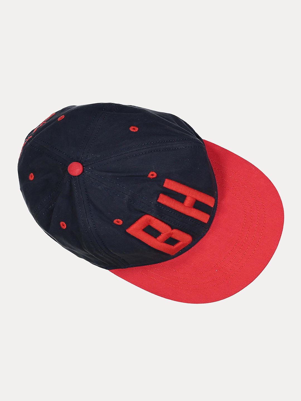 NAVY PRINTED BASEBALL CAP