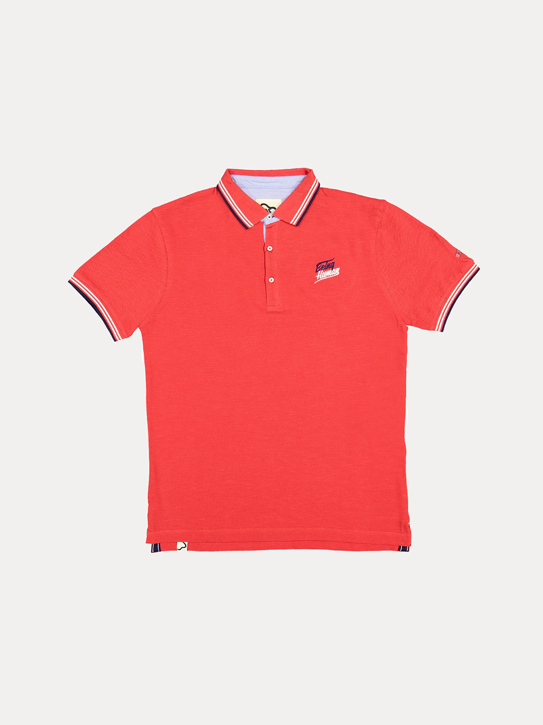 RED SOLID POLO T-SHIRT