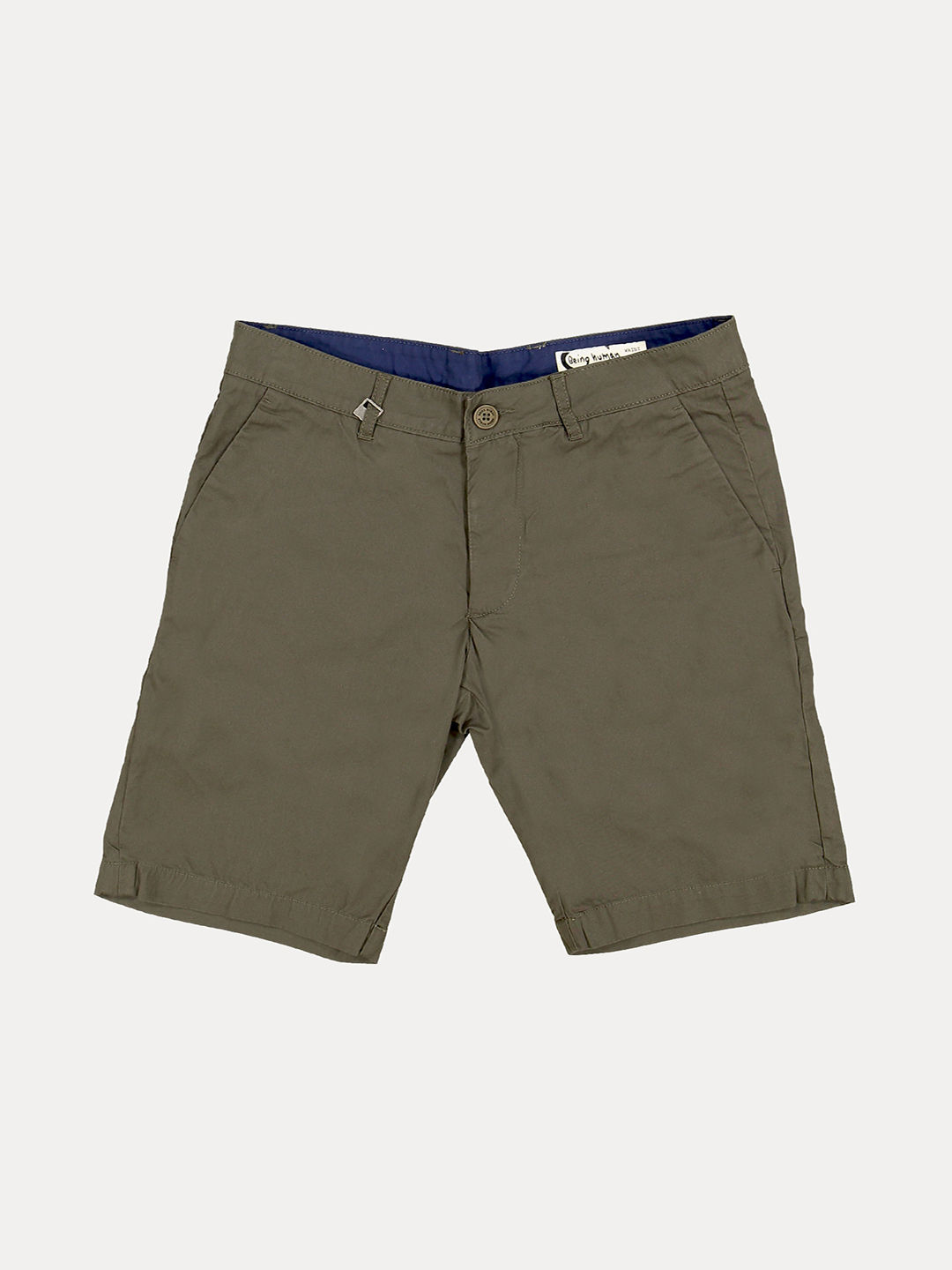 MILITARY GREEN SOLID SHORTS