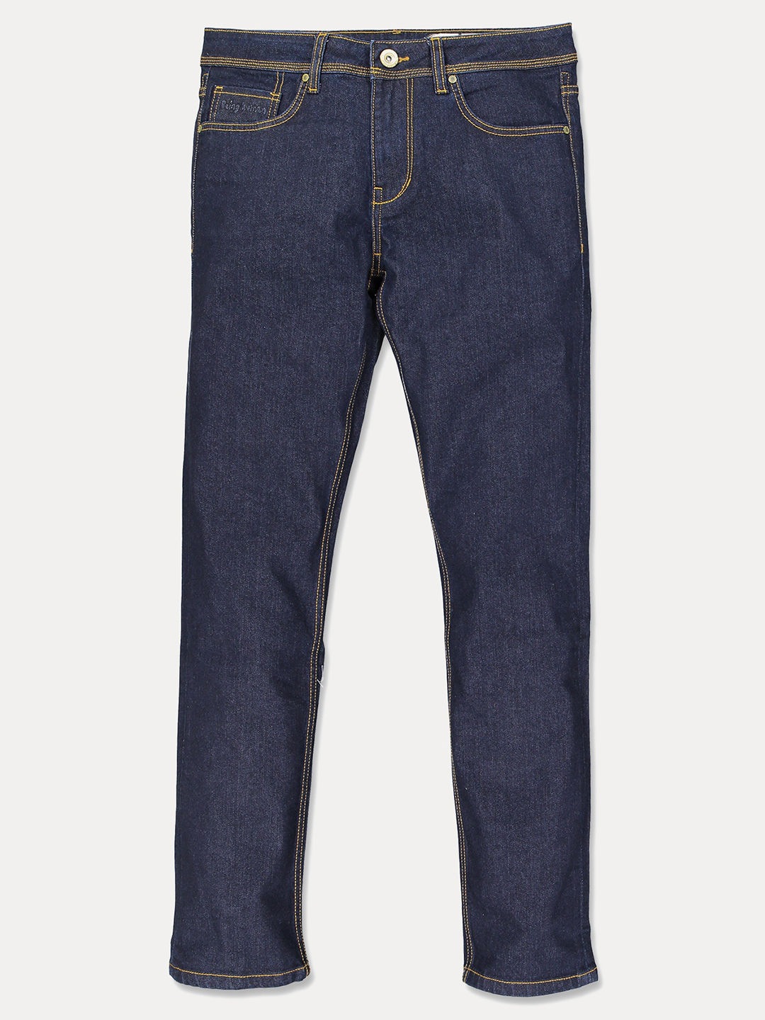 NAVY SOLID STRAIGHT JEANS