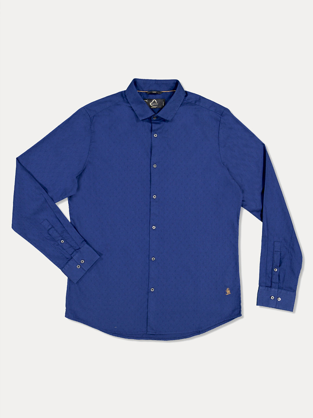 INK BLUE SOLID CASUAL SHIRT