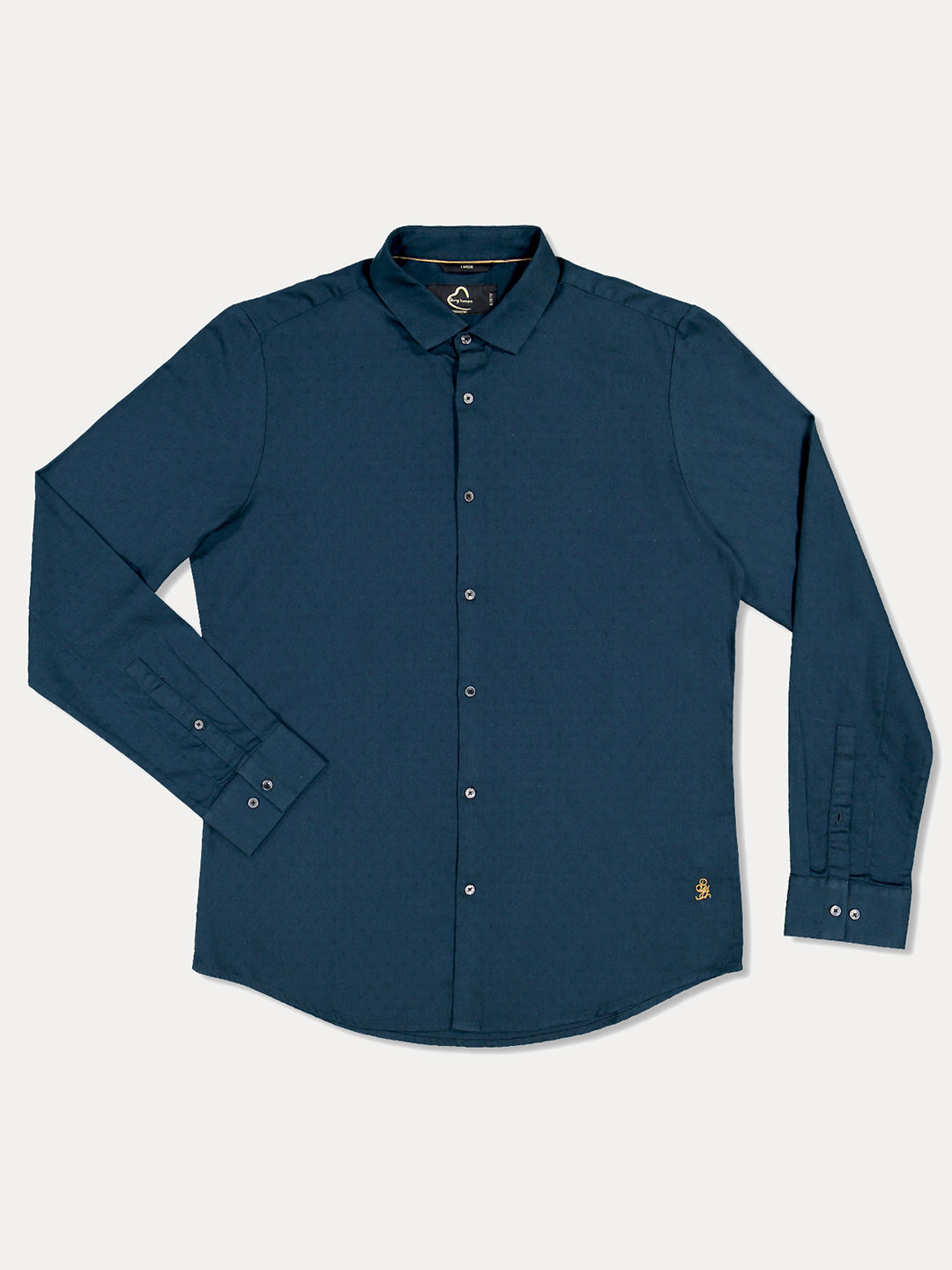 BOTTLE GREEN SOLID CASUAL SHIRT