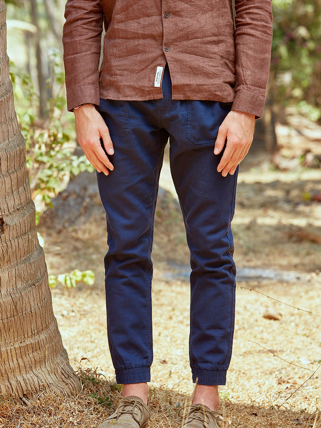 NAVY CASUAL JOGGERS