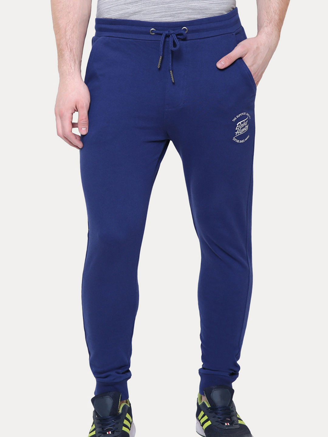 INK BLUE SOLID JOGGERS
