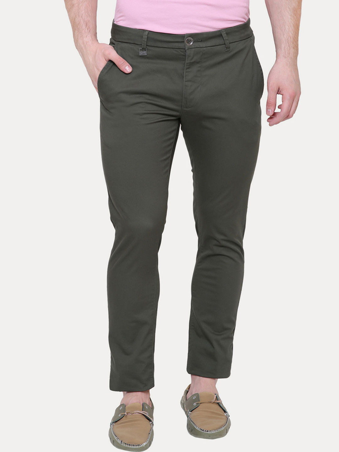 FOREST GREEN STRAIGHT CHINOS
