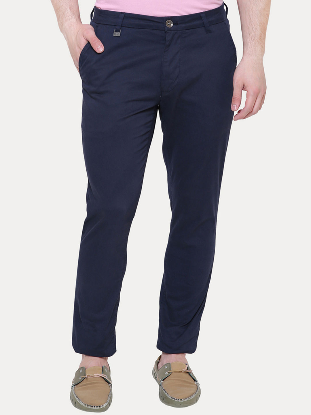 NAVY STRAIGHT CHINOS
