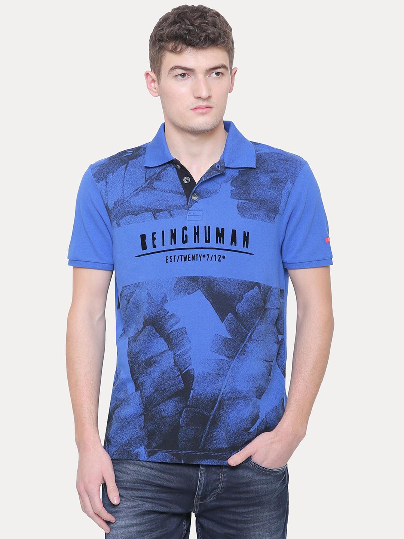 ROYAL BLUE PRINTED T-SHIRT
