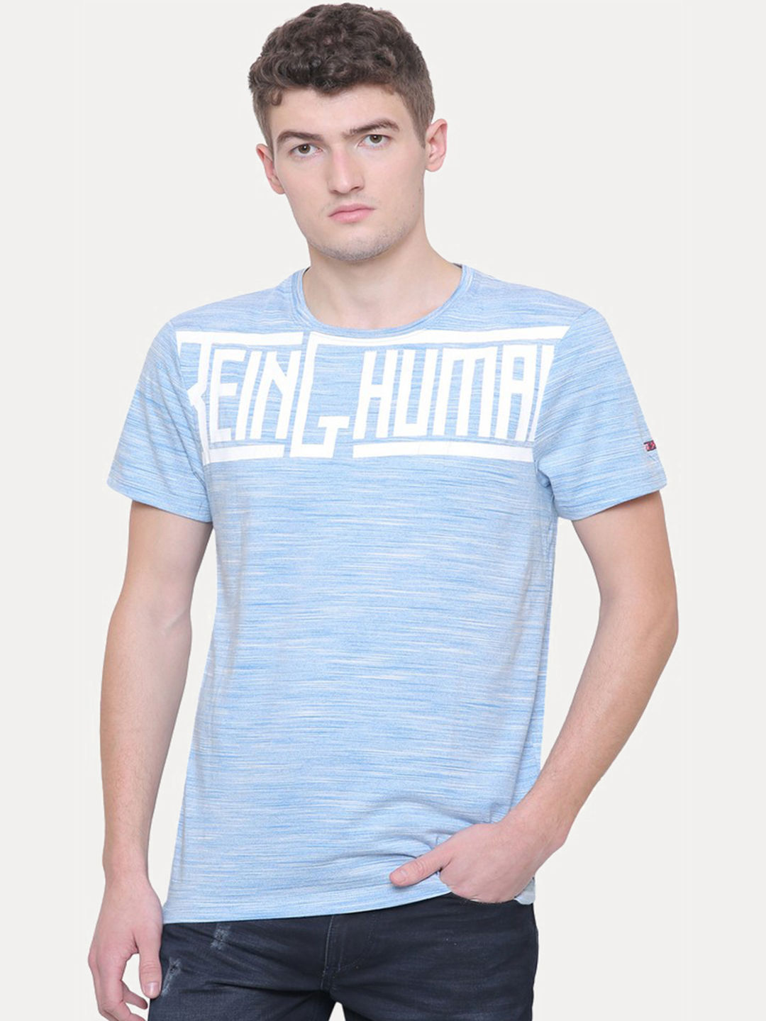 BLUE MELANGE T-SHIRT