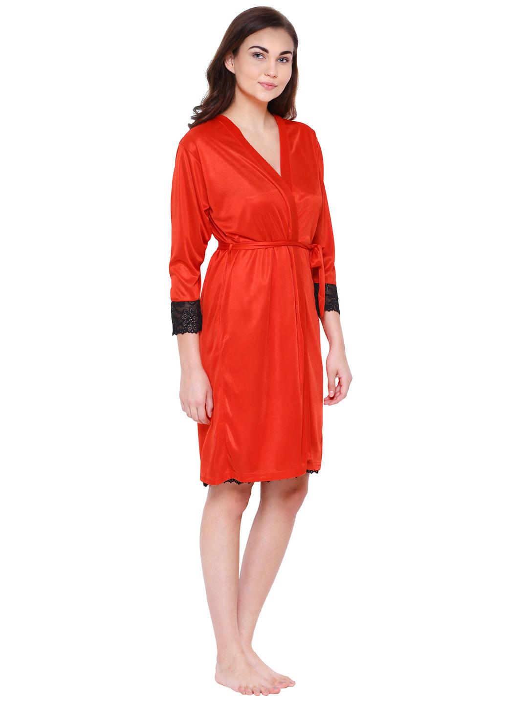 3fe0825cda95 Secret Wish Women's Red Satin Nighty (Free Size)