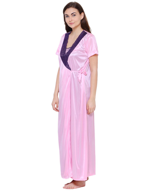 Secret Wish Women's Purple Satin Nighty