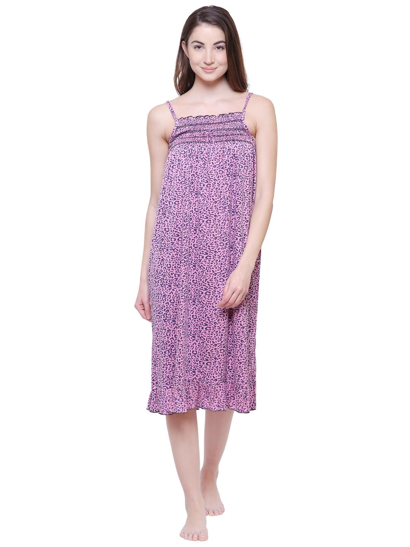 Secret Wish Women s Solid Pink Hosiery Nighty 3662d3136