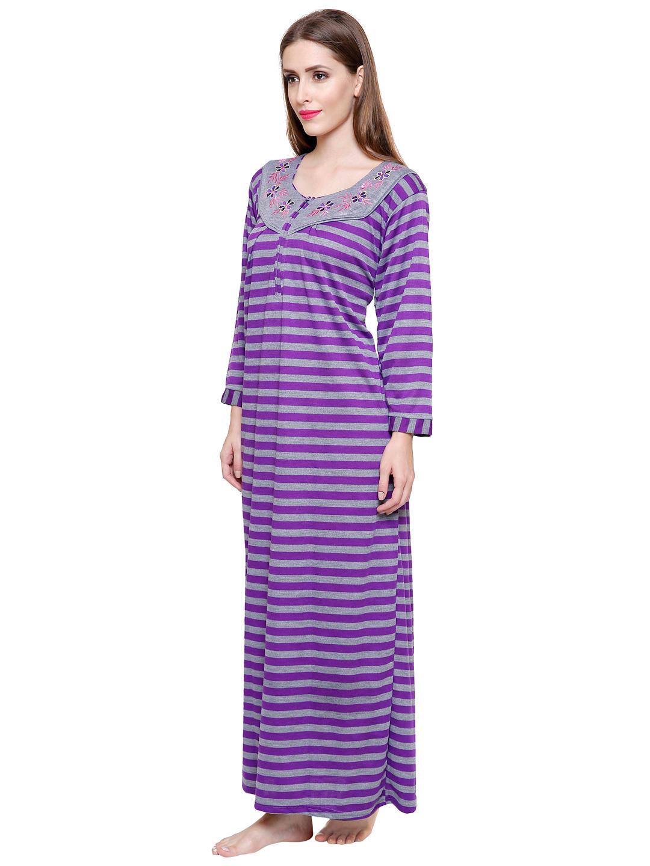 Secret Wish Women's Woolen Purple Nighty