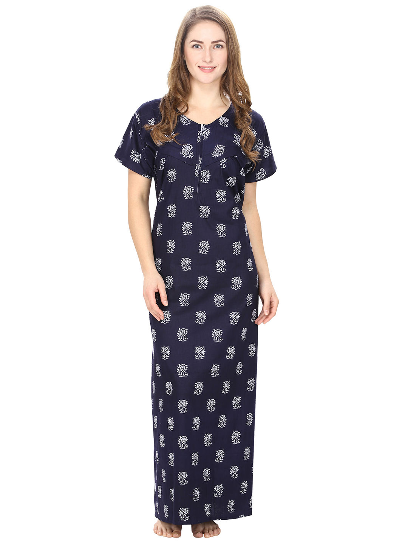 c1a61f86477d2 Cotton Blue Nursing Nighty, Nightdress