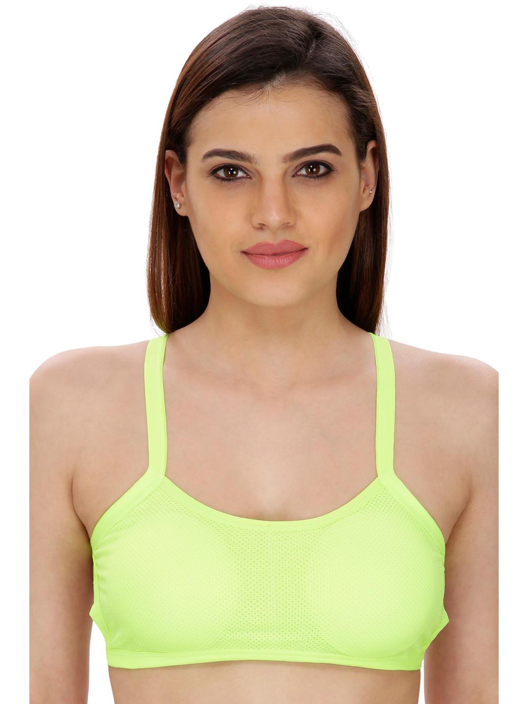 d1e47778c3a1e Secret Wish Fluorescent green Padded Sports Bra