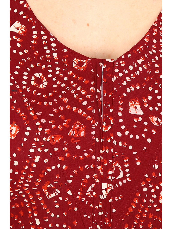 Secret Wish Women's Cotton Maroon Nighty, Nightdress (Maroon, Free Size)