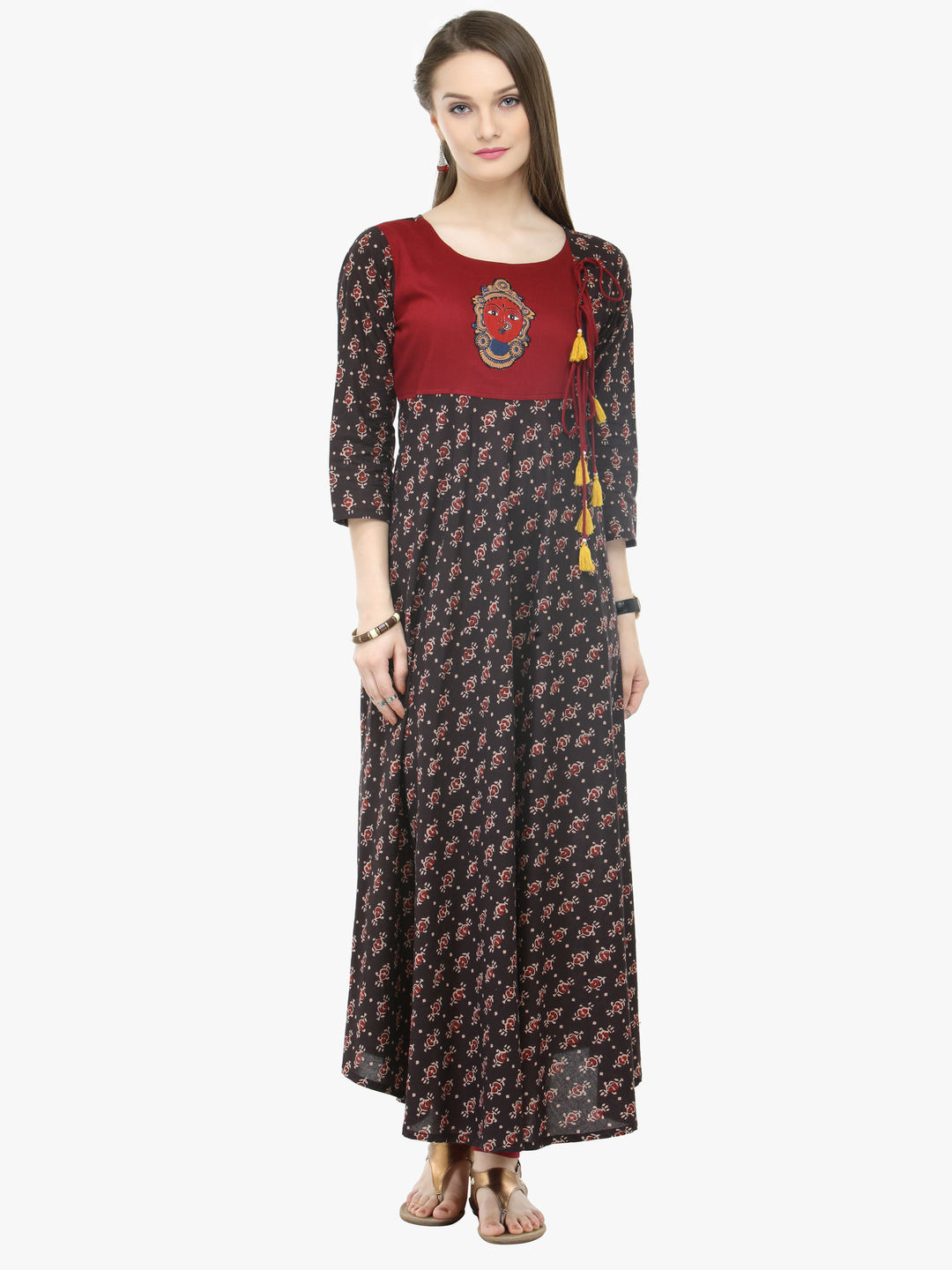 2a2951e8825f Buy Brown Cotton Printed Dresses online at Best Price