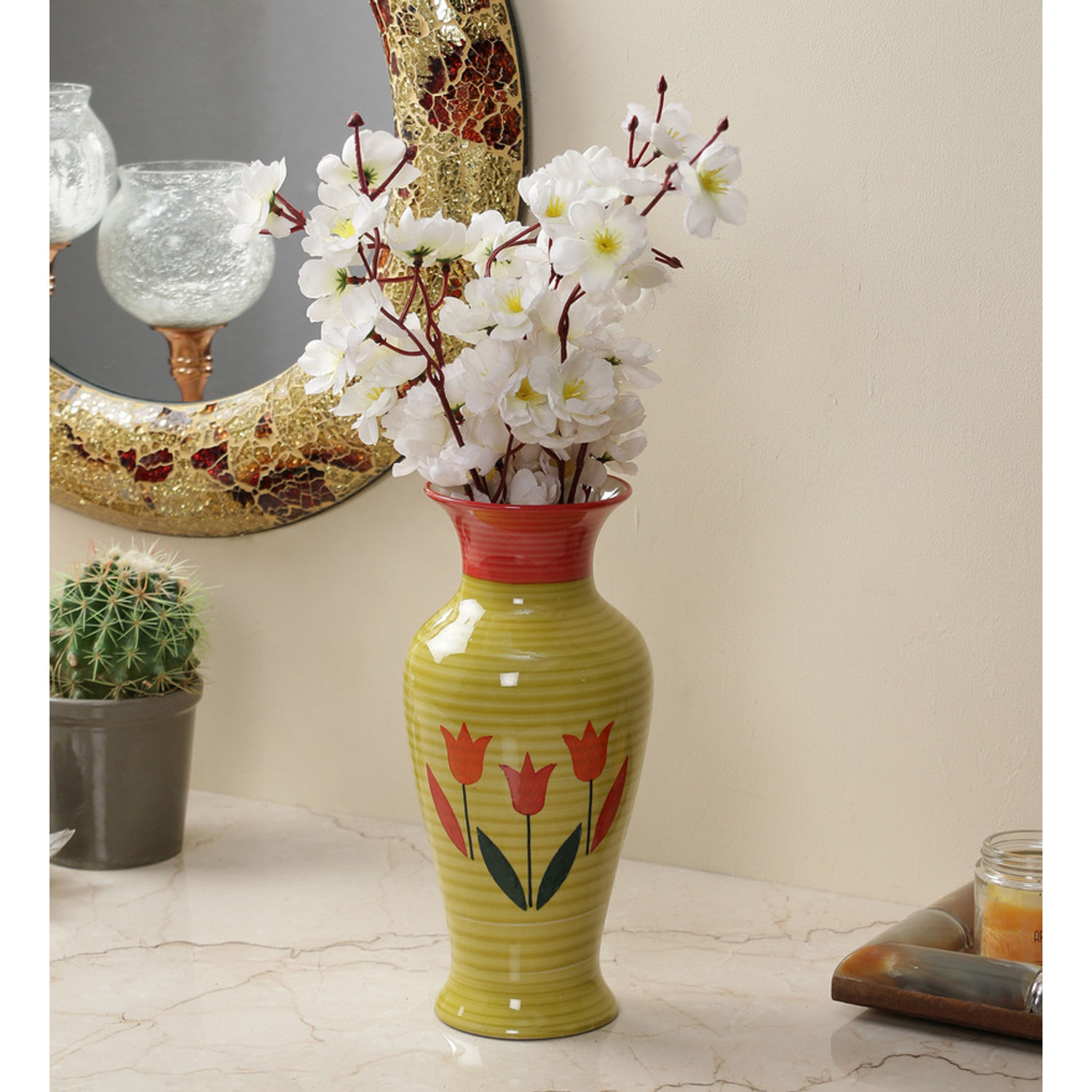 The dcor mart exclusive ceramic flower vase mightylinksfo