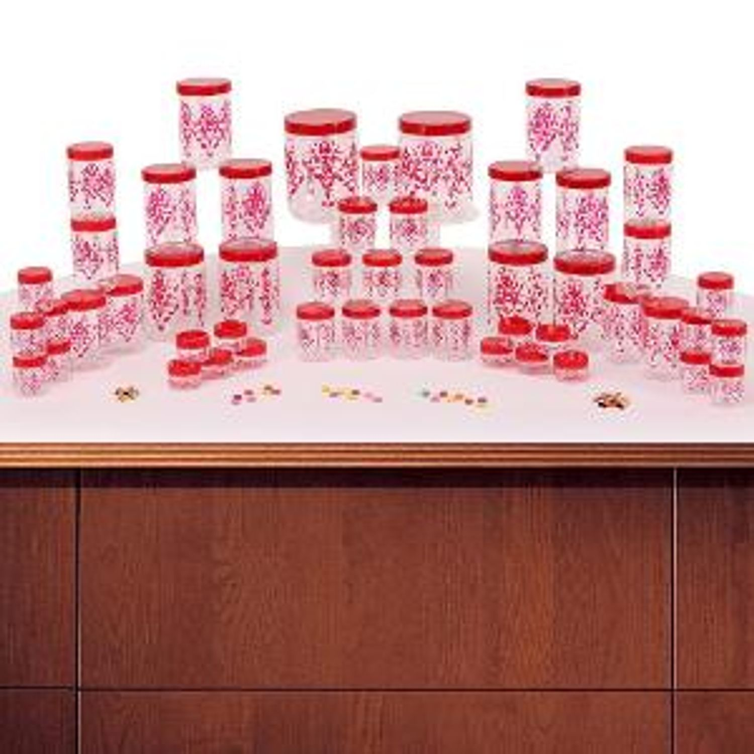 Steelo 60 Pc Storage Container Set Red