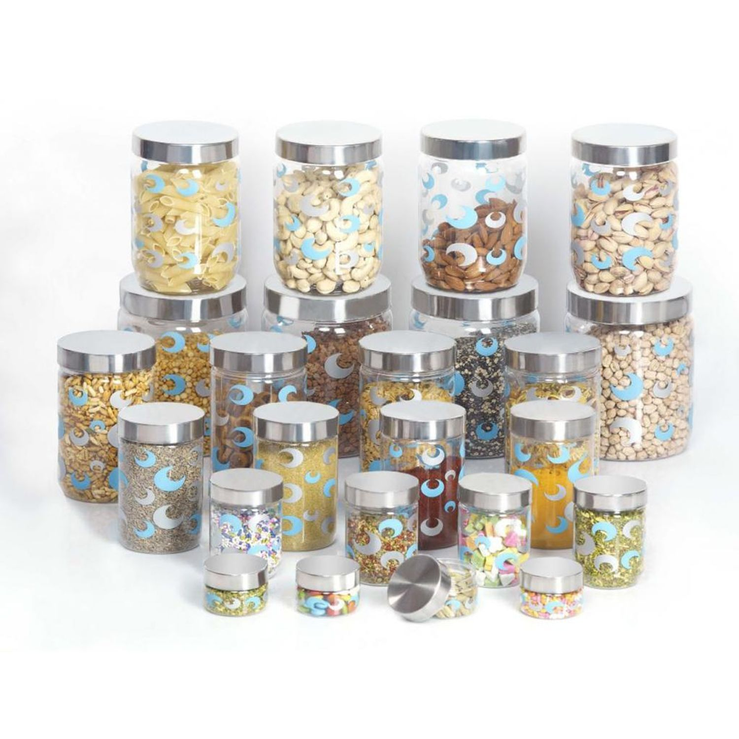 Buy Online Multi Purpose 24 Pcs Pet Kitchen Storage Container Set