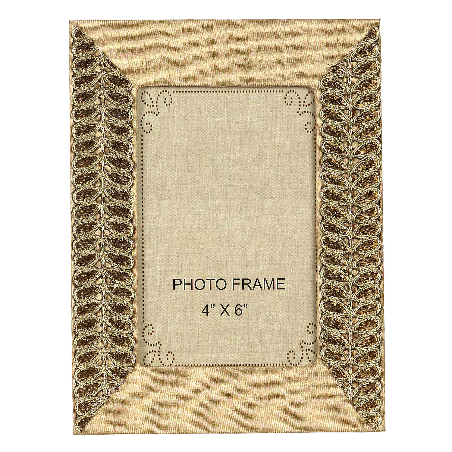 Decor Mart Natural Brown Colour Jute Photo Frame For 6 X 4 Inch Photo