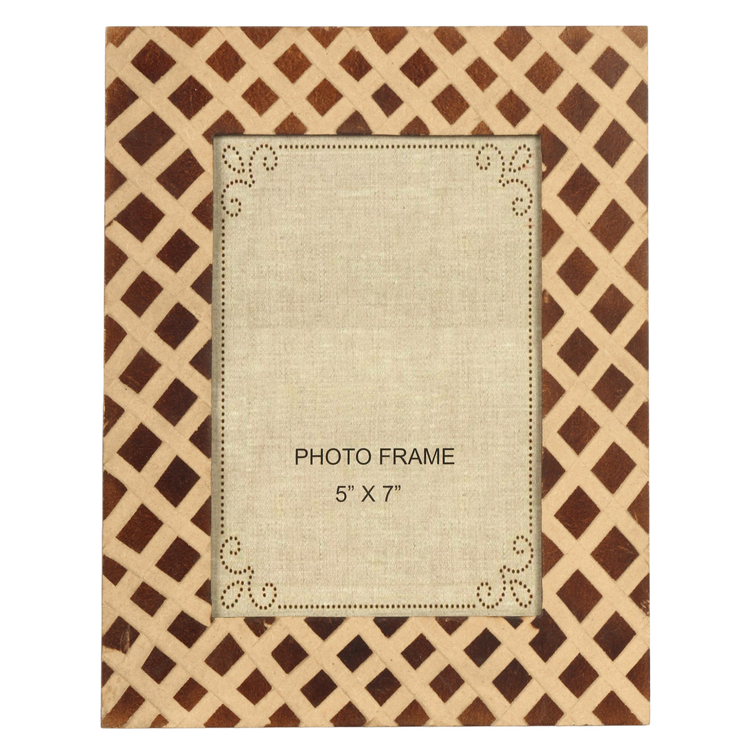 Decor Mart Natural Brown Colour Wood Photo Frame For 7 X 5 Inch Photo