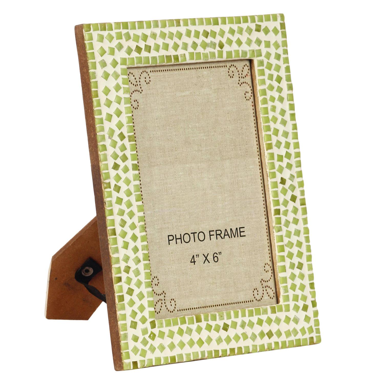 Decor Mart Green Colour Mosaic Photo Frame For 6 X 4 Inch Photo