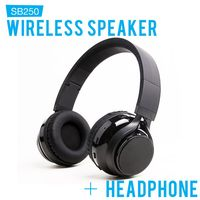 SoundBot SB250 Wireless Bluetooth Headphone Black