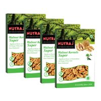Nutraj Super Walnut Kernels 250gm - Vacuum Pack (Pack of 4)