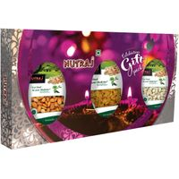 Nutraj Healthy Bites Goodness of 3 Nuts 300g - Mixed Dry Fruit Gift Pack for Diwali