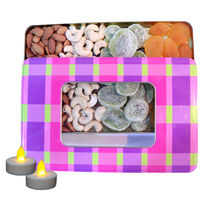 Nutraj Mixed Dry Fruit Gift Pack 400g for Diwali (Almonds, Cashews, Kiwi, Apricots) - Tin Box
