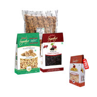 Nutraj Super Saver Pack 1400g (Almonds+Walnuts+Cherries) - Apple Rings Free