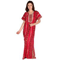 Secret Wish Women's Cotton Red Nighty, Nightdress (Free Size, NT-76)
