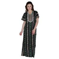 Secret Wish Women's Cotton Green Nighty, Nightdress (Free Size, NT-78)