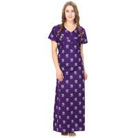 Cotton Purple Nursing Nighty, Nightdress