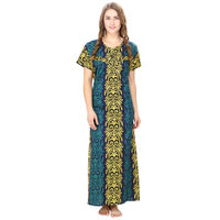 Cotton Turquoise Nursing Nighty, Nightdress