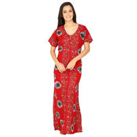 Secret Wish Women's Cotton Red Nighty, Nightdress (Red, Free Size)